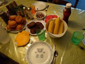 Ein sehr leckeres Abendessen und dazu auch noch so typisch amerikanisch.