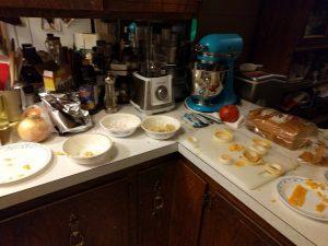 Die Vorbereitungen für die Onion Rings
