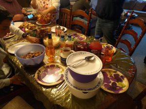Das Festessen an Thanksgiving