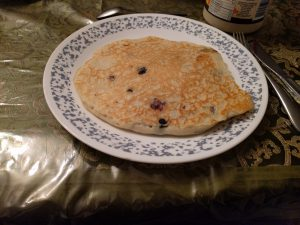 Der wohl größte Pancake, den ich je gegessen habe.