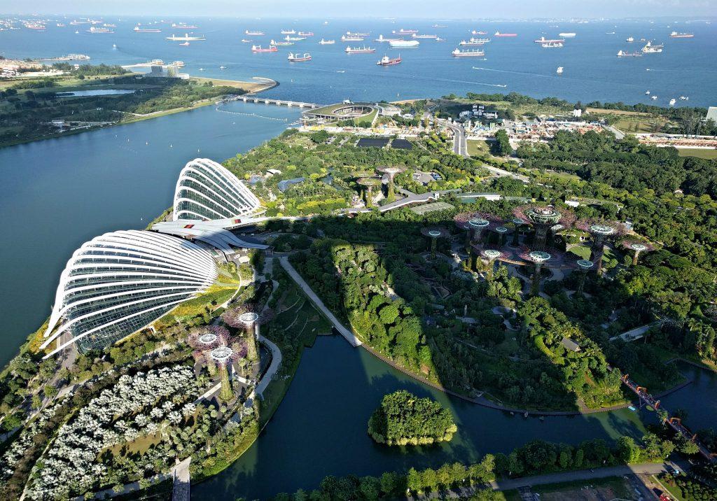 Ausblick von Marina Bay Sands